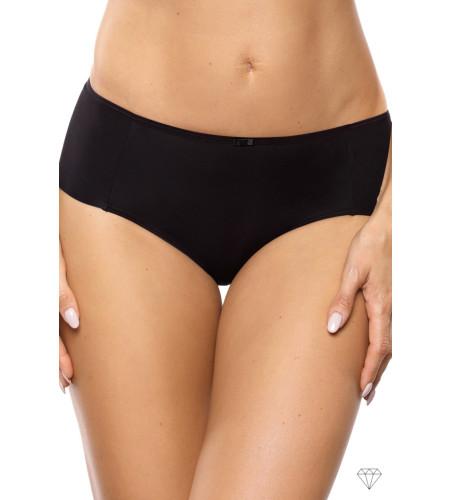 Klasične spodnje hlačke krojene iz gladke črne tkanine. Čudovita dopolnitev nedrčku iz kolekcije Venus.