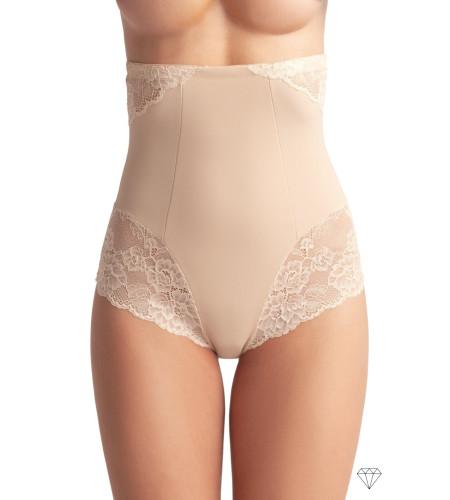 Bež spodnje hlače za korekcijo s silikonskim pasom, ki preprečuje zdrs.