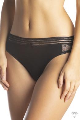Paket dvojnih črnih spodnjih hlačk z ozkim bočnim delom in nekoliko nižjim pasom.