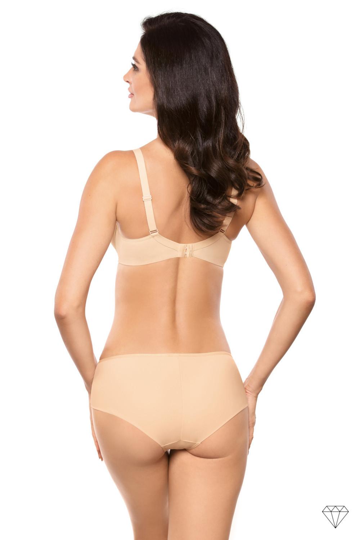 Klasične spodnje hlačke krojene iz gladke bež tkanine. Čudovita dopolnitev nedrčku iz kolekcije Venus.