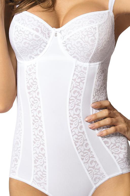 Ženski bodi za oblikovanje postave v beli barvi.