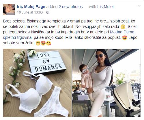 Tudi slovenska misica Iris Mulej je izbrala elegantno kolekcijo Elise.
